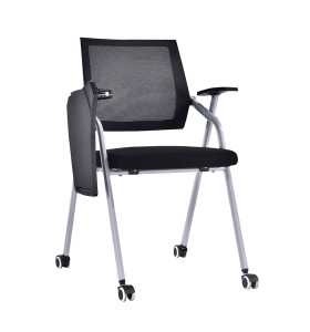 Modern Office Foldable Training Chair with Writing Board, Mesh Seat And Back, Metal With Powder Coating.(YF-A-137)