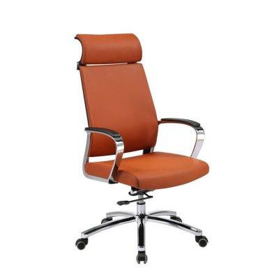 High Back Swivel Office Chair With Headrest, Armrest  And SS Base(YF-9605A-1)
