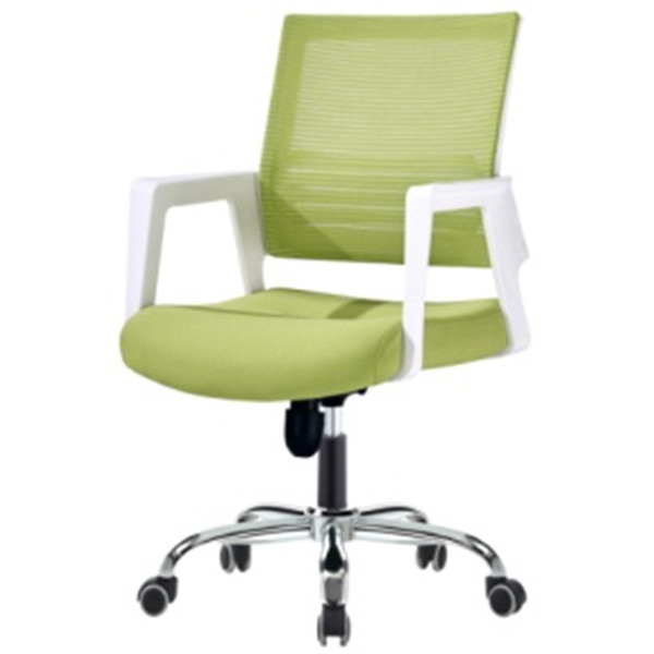 Middle Back Mesh Office Visit Chair with mesh seat and back, chrome base,plastic cover of amrest(YF-A-123)