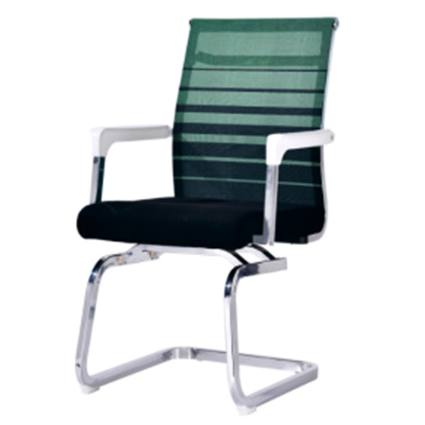 Middle Back Mesh Office Visit Chair with mesh seat and back, chrome base,plastic cover of amrest(YF-A-313)