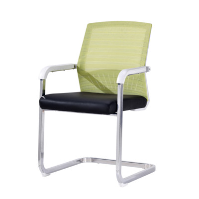 Middle Back Mesh Office Visit Chair With Mesh Seat And Back,Plastic Cover Of Amrest, Chrome Base(YF-A-097)