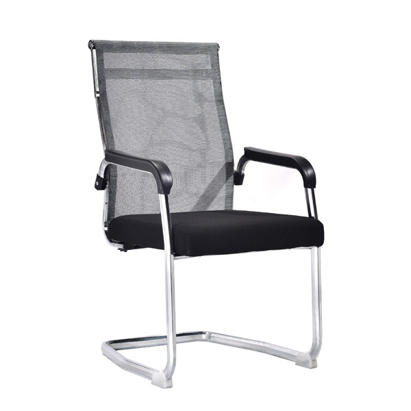 High Back Mesh Office Visit Chair with mesh seat and back, chrome base,plastic cover of amrest(YF-A-081)