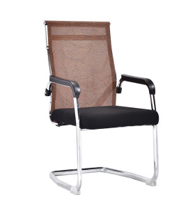 High Back Mesh Office Visit Chair With Mesh Seat And Back,Plastic Cover Of Amrest, Chrome Base(YF-A-081)