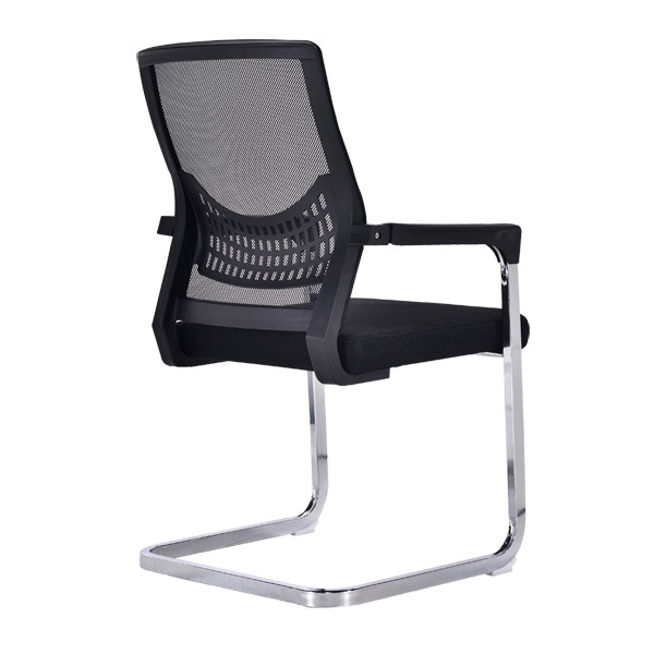 Middle Back Mesh Office Visit Chair with mesh seat and back, chrome base,plastic cover of amrest(YF-A-082)