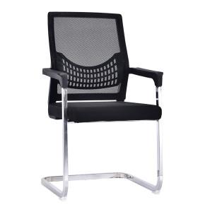 Chaise de visite de bureau en maille à dossier moyen avec siège et dossier en maille, couverture en plastique d'Amrest, base chromée (YF-A-082)