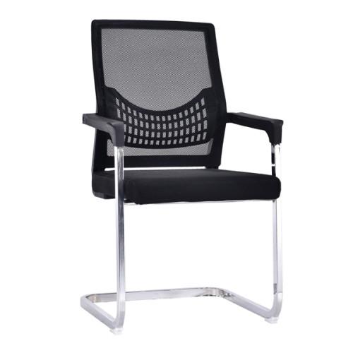 Silla de visita de oficina de malla con respaldo medio con asiento y respaldo de malla, cubierta de plástico de Amrest, base cromada (YF-A-082)