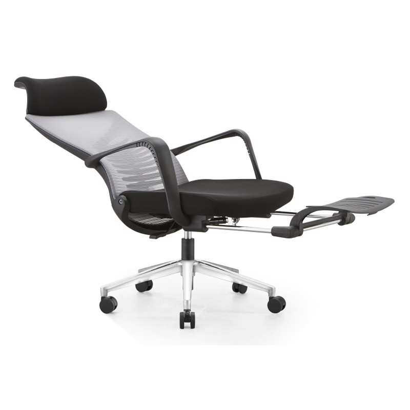 Chaise inclinable de bureau en maille à dossier haut avec design ergonomique et rotatif (YF-A61)