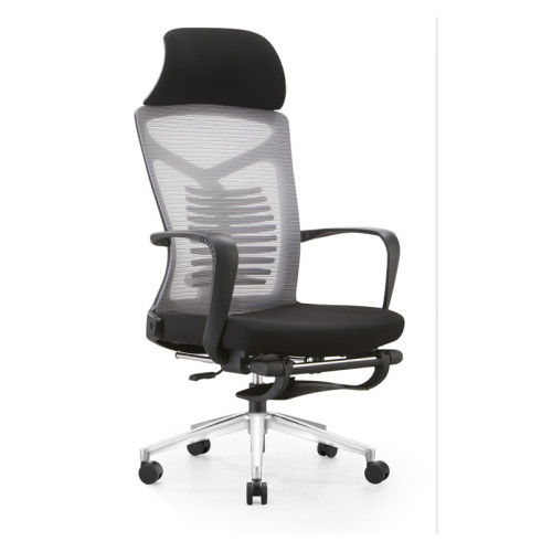 Silla reclinable de oficina de malla con respaldo alto con diseño ergonómico y giratorio (YF-A61)