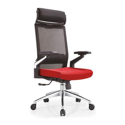 Wholesale high back mesh executive chair with alumnium base, adjustable nylon armrest and headrest(YF-A08)