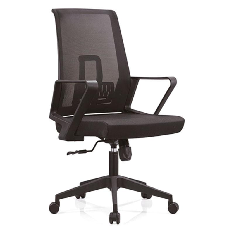 Chaise de bureau central en maille avec cadre arrière en PP, accoudoir en PP et base en nylon (YF-B12)
