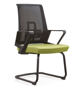 Wholesale Middle Back Mesh Office Meeting Chair with PP armrest, mesh fabric, painting base(YF-C12)