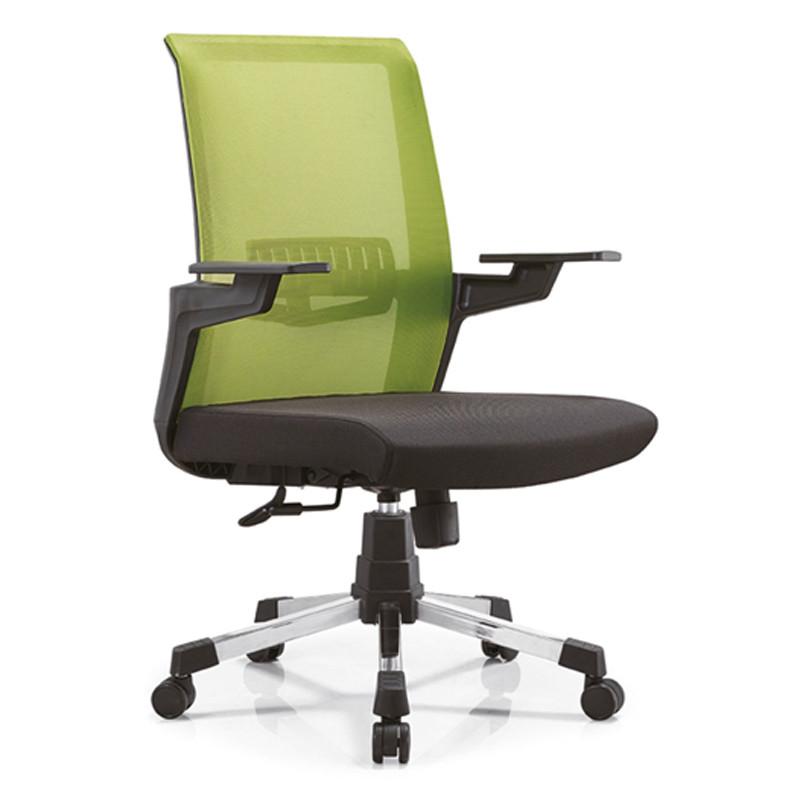 Middle Back Mesh Office Chair with PP Back Frame and PP Armrest, Nylon Base(YF-B13)