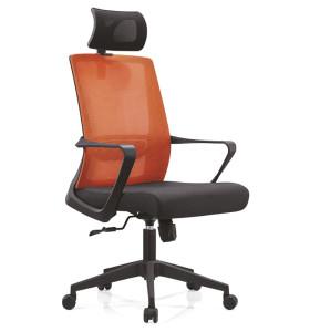Chaise de direction en maille de bureau à haut dossier avec cadre arrière en PP, accoudoir en PP et base en aluminium / nylon (YF-A15)
