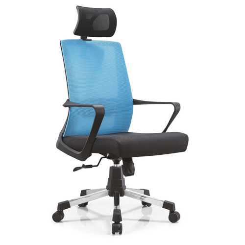 Silla ejecutiva de malla de oficina con respaldo alto con marco de respaldo de PP, apoyabrazos de PP y base de aluminio / nylon (YF-A15)