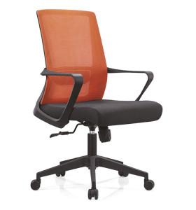 Chaise de bureau central en maille avec cadre arrière en PP, accoudoir en PP et base en nylon (YF-B15)