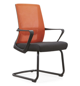 Middle Back Mesh Office Reception and Conference Chair With Painting Base and PP Armrest(YF-C15)