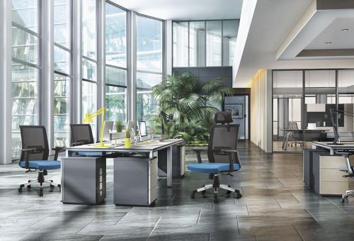 Silla ejecutiva de malla de oficina con respaldo alto con marco de respaldo de PP, reposabrazos de PU y base de nylon (YF-A16)