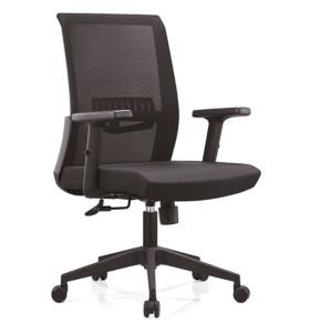Chaise de direction en maille de bureau à haut dossier avec cadre arrière en PP, accoudoir en PU et base en nylon (YF-B16)
