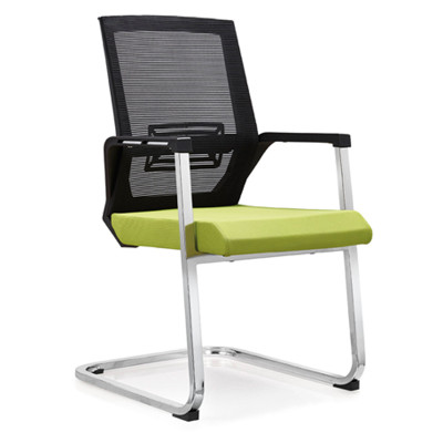 Middle Back Mesh Office Reception and Conference Chair with PP back frame and armrest, chrome base(YF-C06)