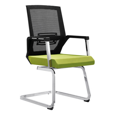 Middle Back Mesh office Reception and Conference chair with PP back frame and armrest, chrome base(YF-D06)