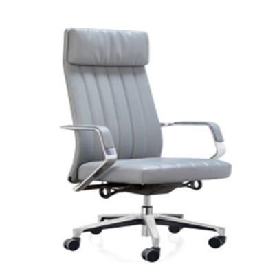High back PU Office Executive Swivel Chair, aluminum armrest, aluminum base (YF-A131-02)
