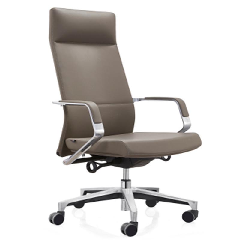High back PU Executive Office Swivel Chair with aluminum armrest, aluminum base (YF-A131-01)