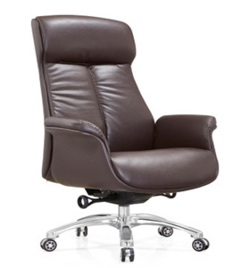 Mid-back PU/Leather Executive Office Swivel Chair with aluminum base (YF-A28)