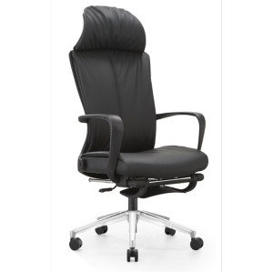 High Back Big and Tall PU/Leather Office Executive Chair,aluminum base,PP Armrest(YF-A60)