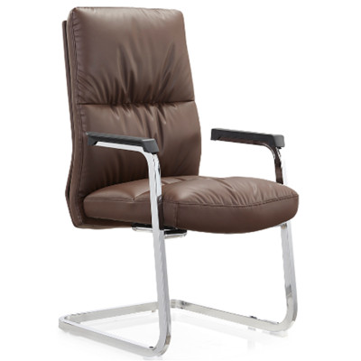 Wholesale High Back PU/Leather Guest Chair,PP Armrest,chrome base(YF-C11)