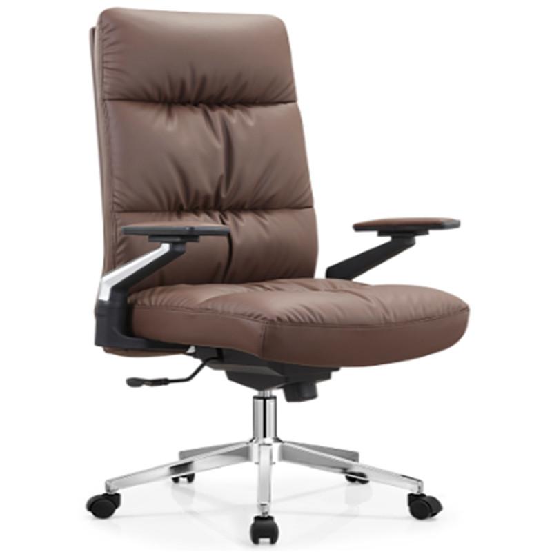 High Back PU/Leather Office Executive Chair,Nylon Armrest,chrome base(YF-A11)