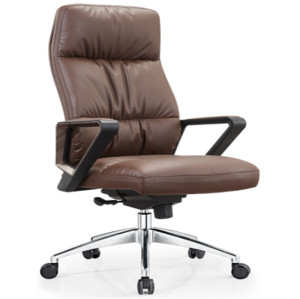 High Back PU/Leather Office Executive Chair,Nylon Armrest,chrome base(YF-A21)