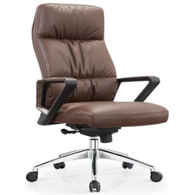 High Back PU/Leather Office Executive Chair,Nylon Armrest,chrome base(YF-A21)