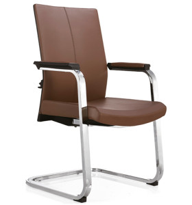 Middle Back PU/Leather Guest Office Chair,PP Armrest,chrome base(YF-C09)