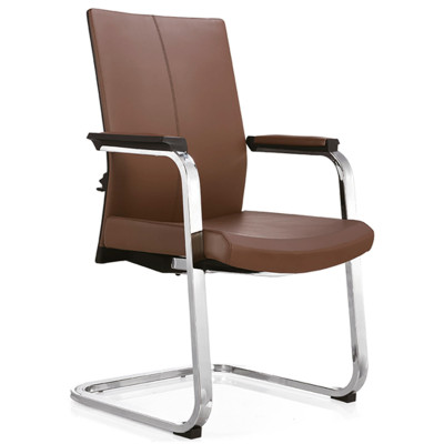 Middle Back PU/Leather Executive Office Chair,PP Armrest,chrome base(YF-C09)