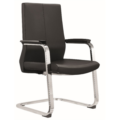 Middle Back PU/Leather Executive Office Chair,PP Armrest,chrome base(YF-C05)