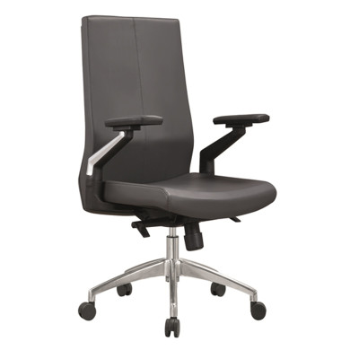 Middle Back PU/Leather Office Executive Chair,Nylon Armrest,chrome base(YF-B05)