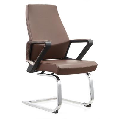 High Back PU/Leather Reception Office Chair, PA Nylon Armrest, Chrome base(YF-C18)