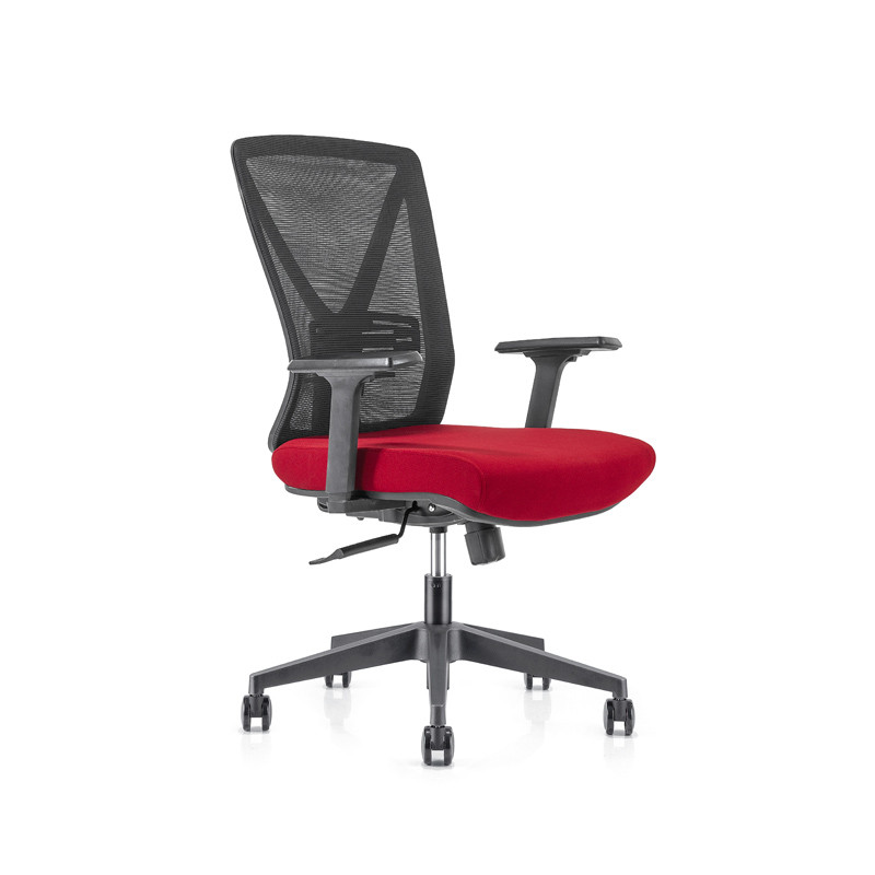 Middle Back office Mesh Chair with 320mm nylon base,PP Armrest,PU castor9(YF-GB04)