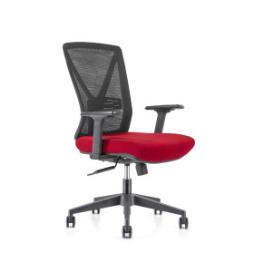 Chaise de bureau central en maille avec base en nylon de 320 mm, accoudoir en PP, roulette PU (YF-GB04)