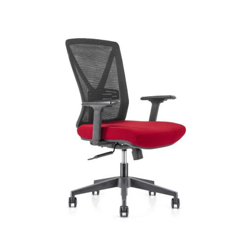 Silla de malla de oficina con respaldo medio con base de nailon de 320 mm, reposabrazos de PP, ruedas de PU (YF-GB04)