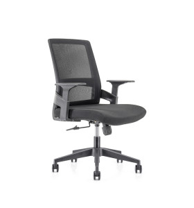 Middle Back office Mesh Chair with 320mm nylon base,PP Armrest(YF-GB07)