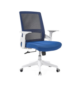 Middle Back office Mesh Chair with 320mm nylon base,PP Armrest,White Frame(YF-GB07-White)