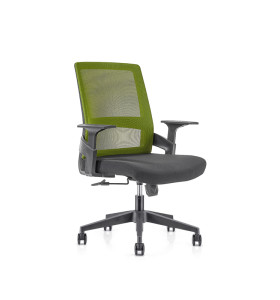 Green Middle Back office Mesh Chair with 320mm nylon base,PP Armrest(YF-GB07-Green)
