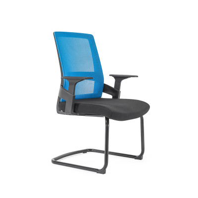 Middle Back Mesh Office Visit Chair With Frosted Base,PP Armrest(YF-GC07)