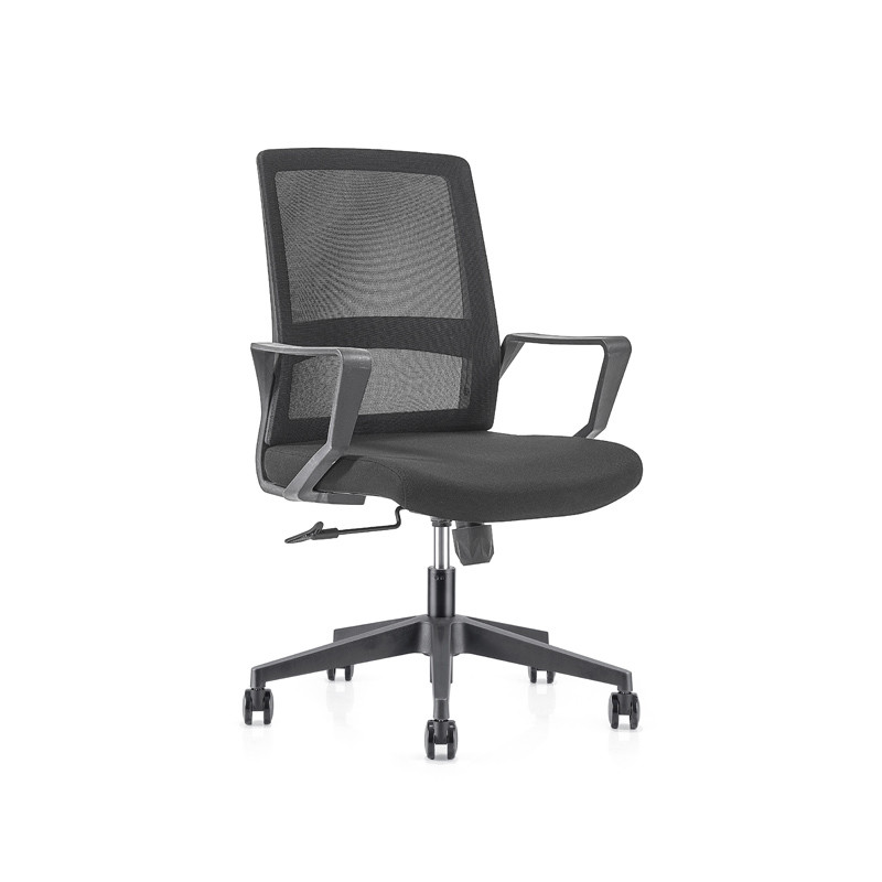 Middle Back office Mesh Chair with 320mm nylon base,PP Armrest(YF-GB08)