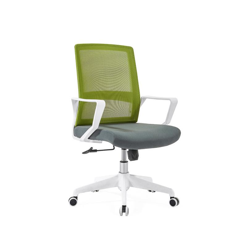 Silla de malla de oficina con respaldo medio con base de nailon de 320 mm, reposabrazos de PP (YF-GB08)