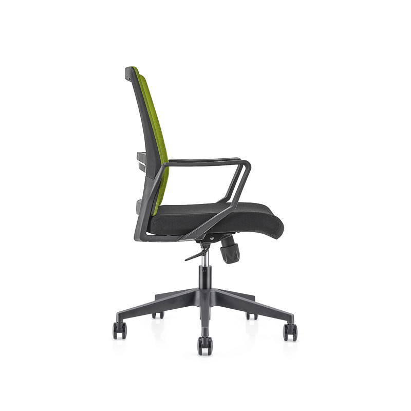 Green Middle Back office Mesh Chair with 320mm nylon base,PP Armrest(YF-GB08-Green)