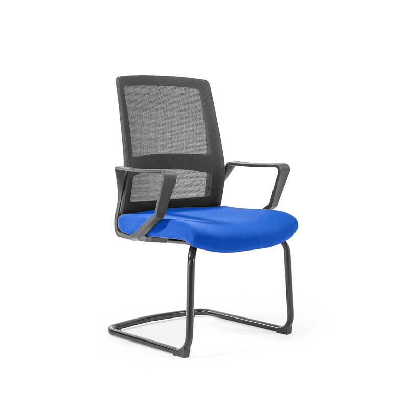 Middle Back Mesh Office Visit Chair With Frosted Base,PP Armrest(YF-GC08)
