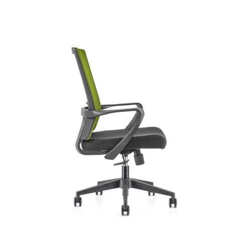 Silla de malla de oficina con respaldo medio con base de nailon de 320 mm, reposabrazos de PP (YF-GB09)