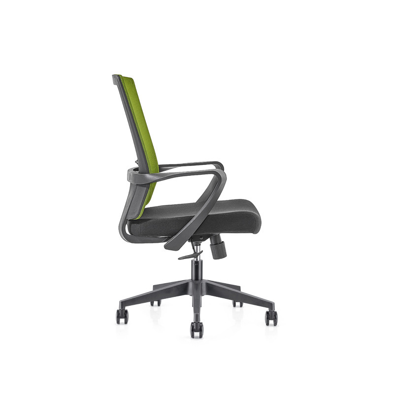 Green Middle Back office Mesh Chair with 320mm nylon base,PP Armrest(YF-GB09-Green)